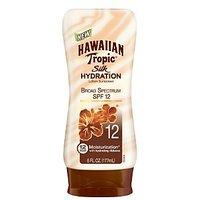 HAWAIIAN Tropic Silk Hydration SPF 12 Sunscreen Lotion, 6 Fluid Ounce