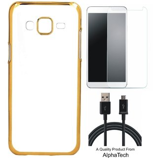 Alphatech Preum Quality Chrome Tpu Back Cover for novo K6 Note ith Golden Ectroplated Edges ith Free  Glass and  Cab