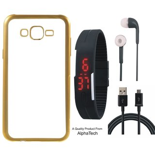 Alphatech Preum Quality Chrome Tpu Back Cover for Lenovo K6 with Golden Electroplated Edges with Free Digital Watch s and  Cable