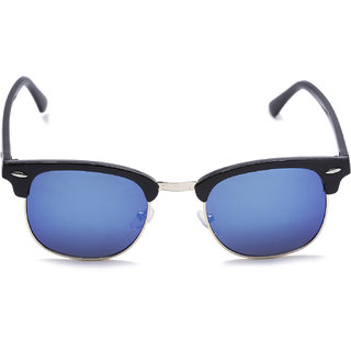 3472616f91b Buy Austin Clubmaster Blue Mirrored Sunglasses Online   ₹299 from ...