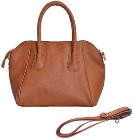 Azzra Brown Handheld Handbag