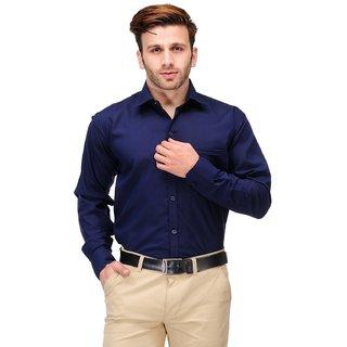 Koolpals Men's  Blue Regular Fit Formal Shirt