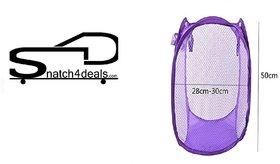 Laundry Basket, Bag for storage of Clothes, Toys Stander Size (Random Color) (Standard)