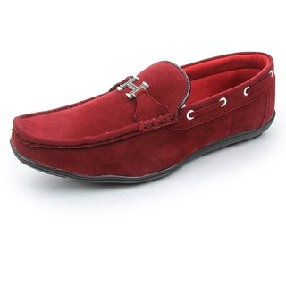 Bacca Bucci Mens Casual Shoes Elegant Loafers Red