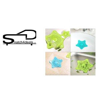 s4d Starfish Hair Catcher Bath Sink Strainer Catcher Drain Cover(Multy)