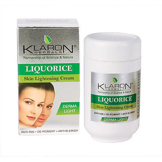 Klaron Herbals - Liquorice Skin Lightening Cream (65gm x 1)