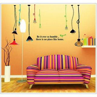 Jaamso Royals 'Real Light Bulb Room  ' Wall Sticker (PVC Vinyl, 90 cm X 60 cm, Decorative Stickers)