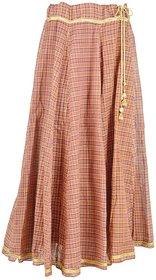 Zuhayr Women's Full Skirt (Blue and Brown)