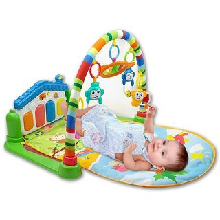 TRENDYY Gifting Baby's Playmat Gym With Toys, Made of Non Toxic Materials