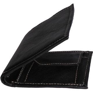 Rojyo Men Black Genuine Leather Wallet