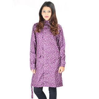 Versalis Womens Polka Dot Raincoat  Purple M