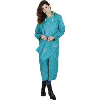 Versalis Womens Blossom Raincoat  Light Blue S