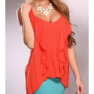 FBBIC Zatak Orange Top For Women