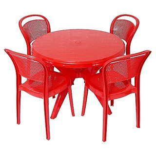 cello miracle chair with presto table - red: buy cello miracle
