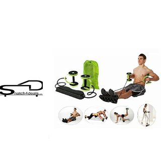 s4d Restrenghening Workout Rope - Your One Solution To Fitness(BLACK - GREEN PLASTIC  RUBBER)