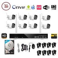 Wireless 8Ch HD NVR WiFi 8 Bullet Camera Kit