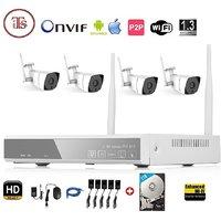 Wireless 4Ch HD Nvr 4 Wifi Bullet Camera Kit