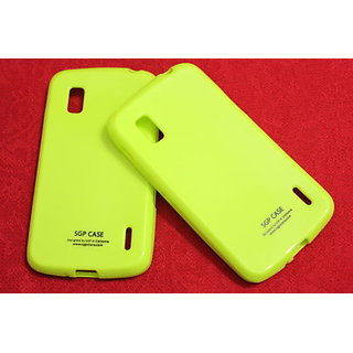 SGP Soft Silicon Back cover case pouch For LG Google Nexus 4 LG E960-green
