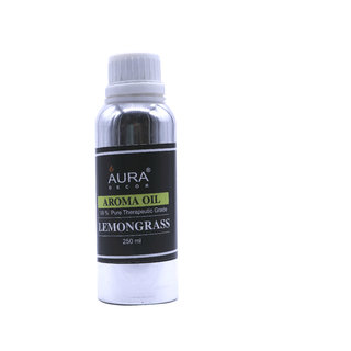 AuraDecor LemonGrass Aroma Oil, 250ml (For Electric Diffusers/ Tealight Diffusers)