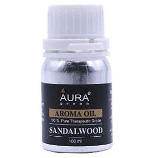 AuraDecor Sandalwood Premium Quality Aroma Oil 100ml for Tealight Burner / Electric Burner