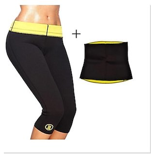 greenbee Hot Shaper Slimming Belt + Pant Men,Women