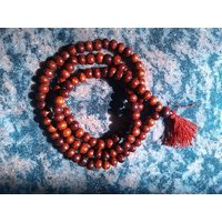 Red Sandalwood 108 Beads Prayer Mala (Lal Chandan Mala)