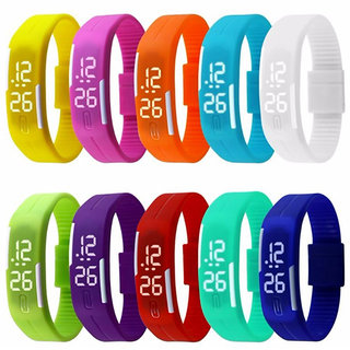 Digital LED Wrist Watch For Kids - 1pc (Assorted Colours)