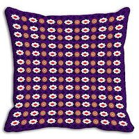 Purple Abstract Digitally Printed Cushion Cover