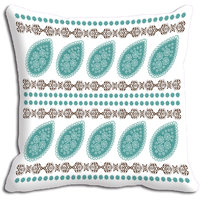 Blue Abstract Digitally Printed Cushion Cover