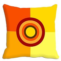 Yellow Square Digitally Printed Cushion Cover