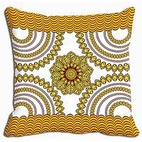Yellow Abstract Digitally Printed Cushion Cover