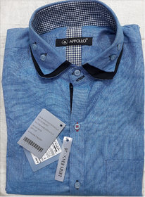 APPOLO Mens Simple and Sober Party Wear Shirt  (Only L Size)