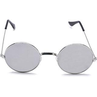 Meia Round Silver Mercury Sunglasses
