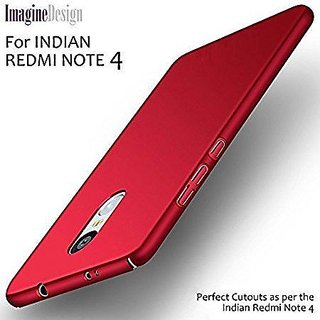Redmi Note 4 Back Cover (Sleek Rubberised Matte Hard Case Back Cover) red