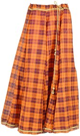 Zuhayr Women's Full Skirt (Orange)