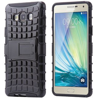 save off 1605f 8c498 SIFAT Defender Back Case Cover Kick Stand for Samsung Galaxy A7 (2015) -  BLACK