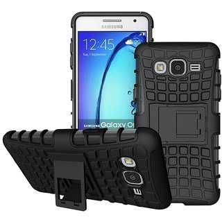 SIFAT  Defender Back Case Cover Kick Stand for Samsung Galaxy On5 / On5 Pro - BLACK