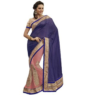 Indian Women Magnificent Pink Georgette Saree With Blouse