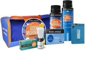 Park Avenue Good Morning Grooming Kit WithTravel Pouch Free 150ml (Set of 2)