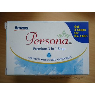 Amway Persona Premium Daily Care 3 In 1 Soap All Skin Types (Set Of 3) -  225g
