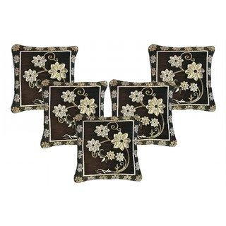CHOCO CREATION Designer Velvet Cushion Cover Set of  5 (16x16)