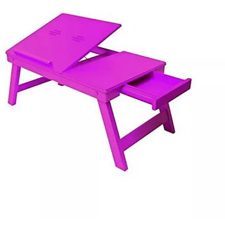 Onlineshoppee MDF High Quality Foldable Laptop Table Size(LxBxH-20x12x8) Inch