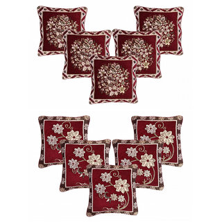 CHOCO CREATION Designer Velvet Cushion Cover Set of  10  (16x16)