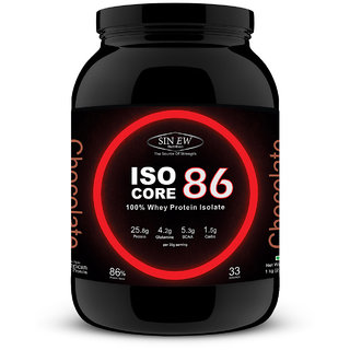 Sinew Nutrition IsoCore 86 - 100 Whey Protein Isolate - 1 kg / 2.2 lbs (Chocolate Flavor)