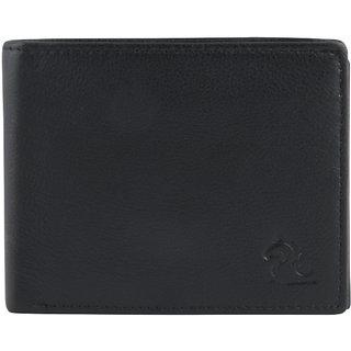 Kara Black Color Bi-Fold Genuine Leather Wallet For Men