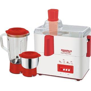 Maharaja Whiteline Royal Happiness Juicer Mixer Grinder  JX-118 (Red)