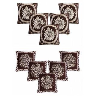 CHOCO CREATION Designer Velvet Cushion Cover Set of  10  (16x16)