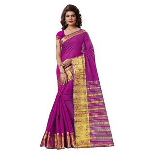 RK FASHIONS Pink Tissue Party Wear Printed Saree With Unstitched Blouse - RK231092