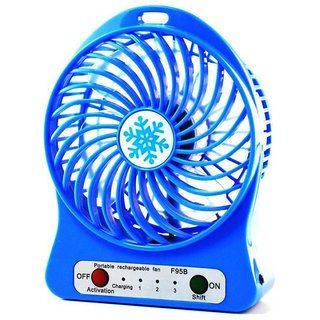 Astyler 3 Speeds Electric Portable Mini Fan Rechargeable Small Powerful Li-Ion Battery Fan Mini Usb Fan Mix Color
