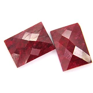 34.10 Ct Certified Natural African Ruby Gemstone Pair